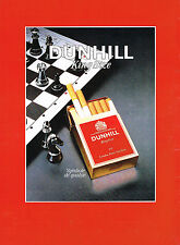 PUBLICITE ADVERTISING 064 1987  DUNHILL  cigarettes