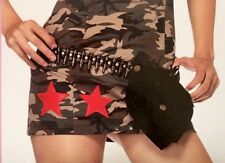 Leg Avenue womens black bullet belt with pouch costume accessory o/s A1918 NIP