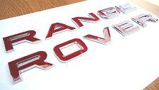 RED CHROME EDGE RANGE ROVER LETTERING FOR EVOQUE SPORT P38 L322 BONNET BOOT 3D