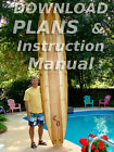 Build a Hollow Wooden Stand-Up Paddleboard, Wood SUP Surfboard- Plans/Blueprints