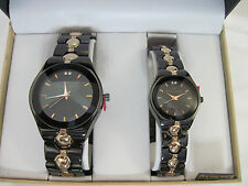 HIS MEN'S AND HER'S WOMAN'S MATCHING DESIGNER DRESS WRIST WATCH WATCHES GIFT SET