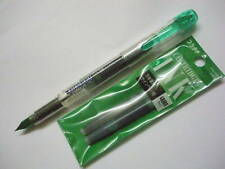 (1 Pen +2 Cartridges) Platinum Preppy 0.3mm Fine nib Fountain Pen, Green