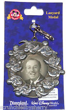 Walt Disney and Mickey Mouse Lanyard Metal Theme Parks New