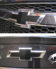 Carbon Fiber Logo Mark Front & Rear Emblem Sticker Chevrolet Cruze 2ps 2011 2012