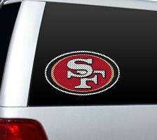 "*BIG* 12"" SAN FRANCISCO 49ERS CAR HOME PERFORATED WINDOW FILM DECAL NFL FOOTBALL"
