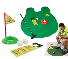 POTTY PUTTER GOLF GREEN TRAINING AID - BATHROOM GOLF