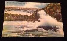 VIntage Whirlpool Rapids Niagara Falls River Canada Vintage Postcard 1957