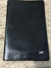 Leather Black Checkbook Holders For Men