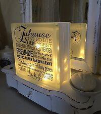 Lampe Glas Aufkleber/Tattoo+Name! Shabby Chic Leuchte Licht-Kette Weiß Schwarz