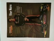 Vitor Meira Indianapolis Indy 500 Signed Car Promo Card Autographed