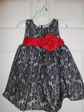 Lilybird Black Lace Dress with Red Bow Size 6 Christmas Gown Holiday Wear New