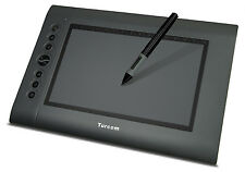 """Turcom TS-6610 Graphic Drawing Tablet and Pen/Stylus for PC/Mac.10x6.25"""" surface"""
