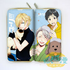 Hot New Anime YURI ON ICE Victor Nikiforov Long zipper Wallet Cute PU Purse Gift