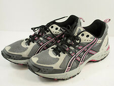 ASICS Gel Enduro 5 Running Shoes Womens Sz 8 Gray Pink Trainers Athletic T9C9N