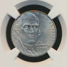 2007-D Jefferson Nickel Ngc Ms68 Sms