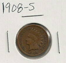 1908-S Indian Cent : Extra Fine +