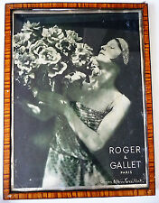 PUBLICITE ANCIENNE / PHOTO DE LAURE ALBIN GUILLOT / ROGER & GALLET