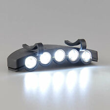 UK LED HeadLamp Flash Cap Torch Flash Head Light Fishing Camping Hunting Clip-On