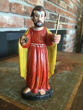 Antique 18th 19th Century Carved Figure Saint Francis Xavier Wooden Statue