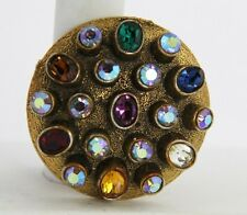 VINTAGE Jewelry MODE ART ATOMIC MODERNIST RHINESTONE BROOCH HTF