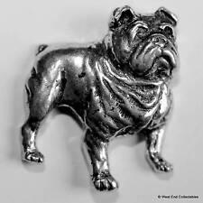 Bulldog Peltre Broche - Británico Hechos A Mano - Churchill, Inglés, American
