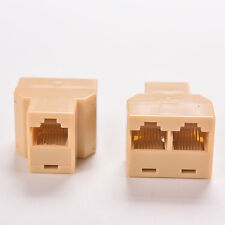 Double DZ517 RJ45 Ethernet Cable LAN Port 1 to 2 Socket  Splitter Connectors