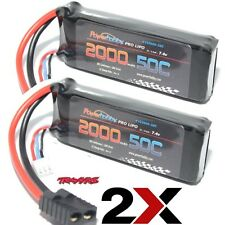 Powerhobby 2S 7.4v 2000mAh 50C Lipo Battery 2 Pack : Traxxas 1/16 Slash