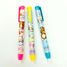 1x Cute Rilakkuma Candy Push Button Pencil Shaped Eraser School Supplies San-x