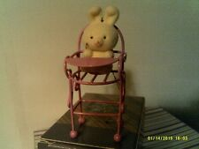 VTG AVON SPRING BUNNY COLLECTION ORNAMENT - HIGHCHAIR-NEW IN BOX-FREE SHIPPING