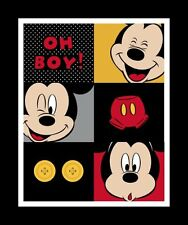 1 Yard Quilt Cotton Fabric- Springs Disney Mickey Mouse Oh Boy Quilt Panel