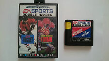 JUEGO Y CAJA DOUBLE HEADER HOCKEY AND JOHN MADDEN FOOTBALL MEGA DRIVE MEGADRIVE
