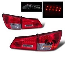 LED Tail Lights FOR 2006-2008 Lexus IS250 IS350 Rear Brake RED CLEAR Taillights