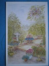 POSTCARD IRENES GARDEN WATERCOLOUR