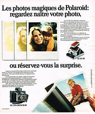 PUBLICITE ADVERTISING 114  1975  POLAROID  appareil photo  COLORPACK 88