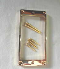 SHORT Arched LP METAL HUMBUCKER PICKUP RING SURROUND MIGHTY MITE GOLD 4 Les Paul
