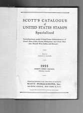 1955 SCOTT'S CATALOGUE OF UNITED STATES STAMPS BOOK- SPECIALIZED-33RD EDITION