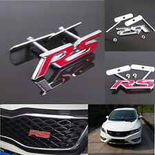 Car Suv Racing Red RS Logo Decoration 3D Metal Front Grille Grill Badge Emblem