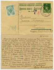 YUGOSLAVIA 1946 POST OCCUPATION CURRENCY REFORM STATIONERY + POSTAGE DUE