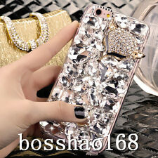 Bling Diamond Crystal Thin Clear Soft TPU Back Shell Case Cover For HTC