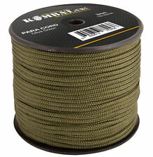 100M  PARACORD REEL FOR BUSHCRAFT BASHA, BIVVI, TENT, MILITARY - OLIVE GREEN