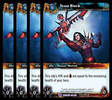 4x Tessa Black War of the Ancients Epic 115 World Warcraft WoW TCG Card Game