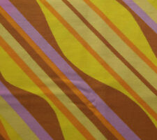 "Vintage 1950s cotton fabric CYRIL LORD bright wavy stripes 2 pieces each 35""x21"""