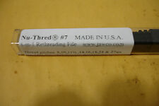 Jawco #7 Nu-Thred® Hydraulic Fittings Thread Restoring File 8-27 TPI Made in USA