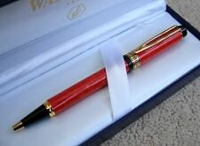 WATERMAN PATRICIAN  MAN 100  CARDINAL RED BALLPOINT PEN NEW IN BOX *