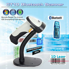 Automatic Sense Laser Barcode Scanner Handheld POS+Holder Fr IOS Android Windows