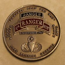 4th Rangers Training BN Ft Benning Camp Rodgers Darby Color Army Challenge Coin