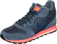 Nike md runner femme uk 7 eu 41 bleu marine & orange 807172-448 baskets