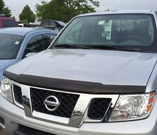 NEW OEM 2005-2015 NISSAN FRONTIER FRONT HOOD PROTECTOR - BUG GUARD - SMOKE COLOR