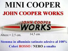 MINI COOPER S JCW ONE Jonh Cooper Works Stemma Badge Fregio ALLUMINIO SATINATO