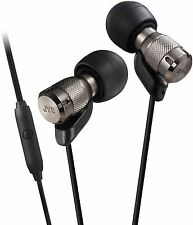 JVC Micro HD Metal Housing In Ear Earphones Headphones with Remote + Mic - Black